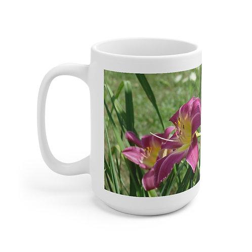"Ceramic Mug 15oz ""Lily Twins"""