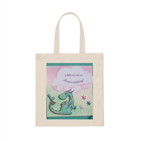 """Canvas Tote Bag """"A Little Bird told me..."""""""