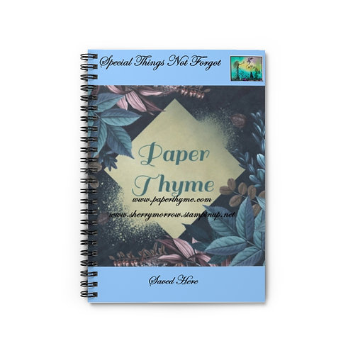 Paper Thyme Spiral Notebook - Ruled Line