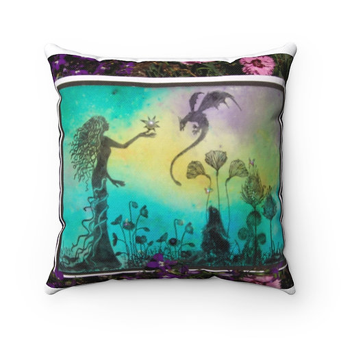 """Spun Polyester Square Pillow Case """"First Pearl"""""""