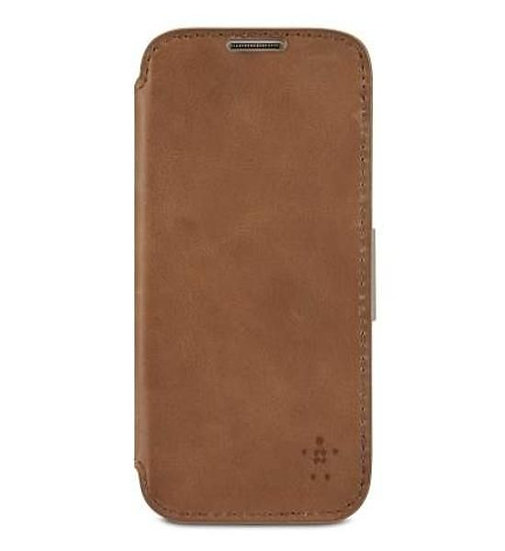 Belkin Wallet Folio With Stand For Samsung Galaxy S4 In Brown