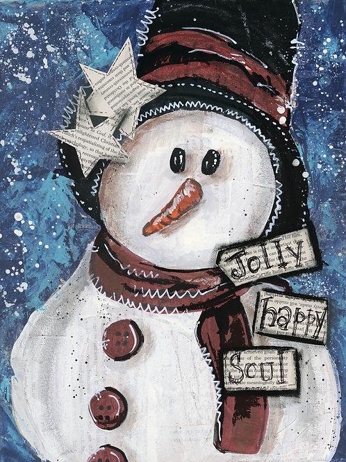 Snowman 5 x 7 Card