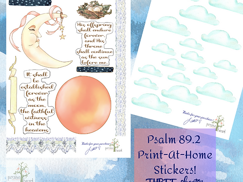Psalm 89.2 Sticker Set
