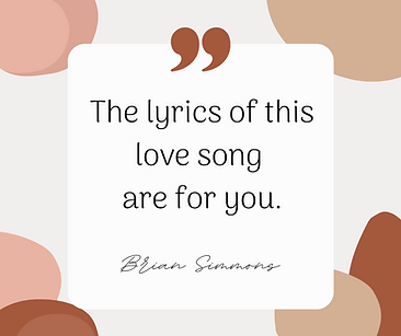 The lyrics of this love song are for you