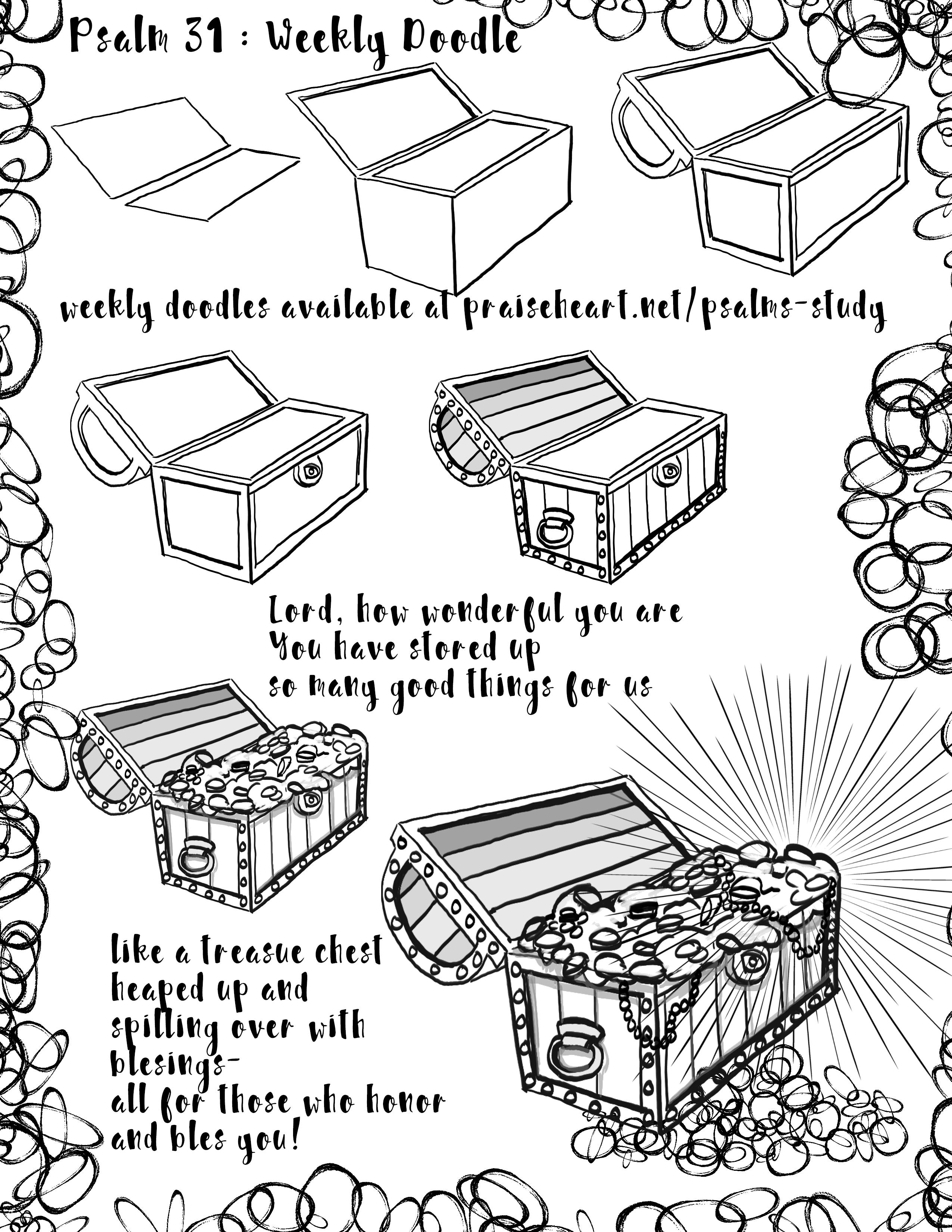 psalm 31 doodle