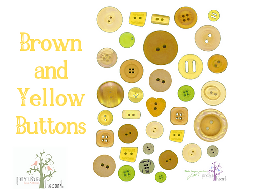 Brown and yellow buttons