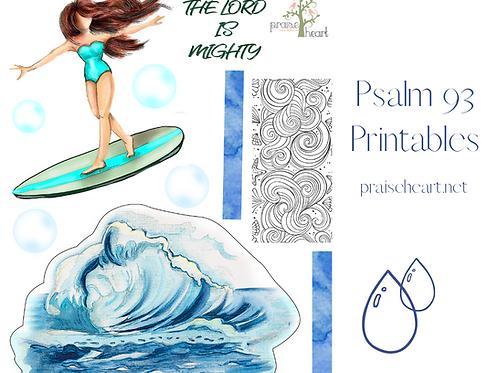 Psalm 93 Stickers