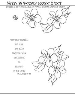 Psalm 85 doodle