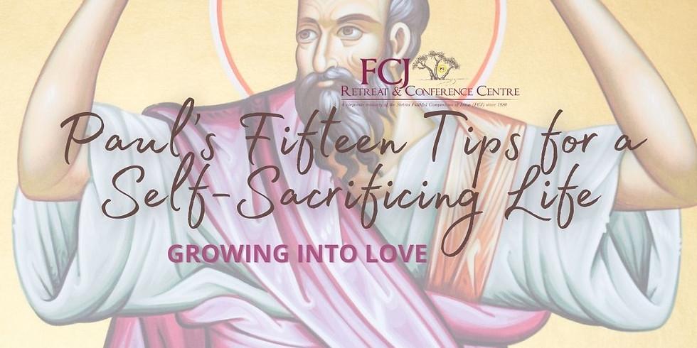ONLINE St. Paul's Fifteen Tips for a Self-Sacrificing Life