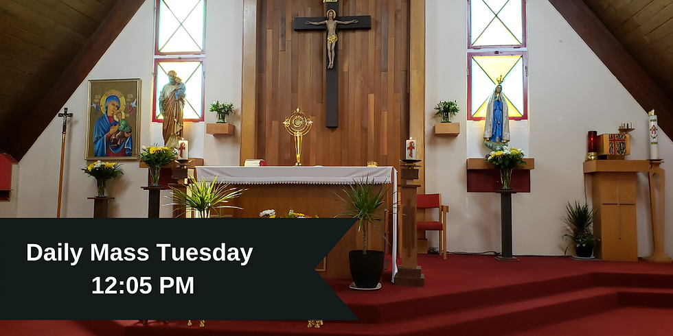 Daily Mass: Tuesday 12:05 PM