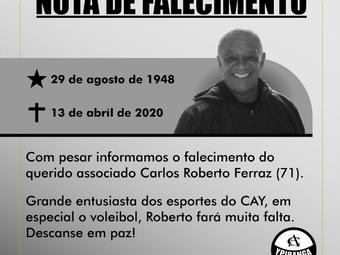 Nota de falecimento: Carlos Roberto Ferraz