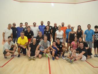 Squash: partida profissional marca a inauguração dos novos pisos