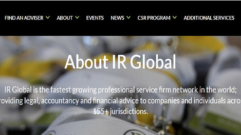 PRO LEGAL | Iosif & Asociatii joined IR Global, the world's largest exclusive network of adv