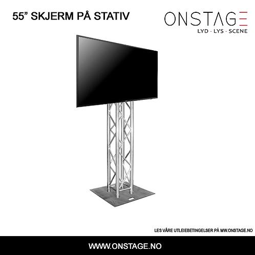 """Utleie > 55"""" Skjerm på stativ"""