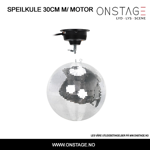 Utleie > Speilkule 30cm m/ motor