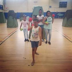 OTB Dodge Wars at Girls Expecting More Success Summer Camp.jpg Team Red.jpg