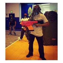 Team Red is On Target and ready for Battle! On Target BattleZone is fun for all ages.__Contact us To