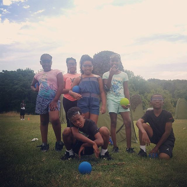 Team Blue is On Target and ready for Battle!  #kids #smile #outside #amazing #baltimore #tbt #photoo