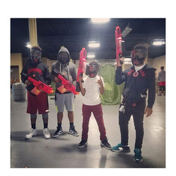 Nerf Wars at On Target BattleZone _Team Red is On Target and ready for Battle.jpg