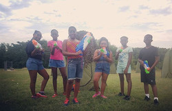 Team Blue is On Target and ready for Water Wars  #kids #smile #outside #amazing #baltimore #tbt #pho