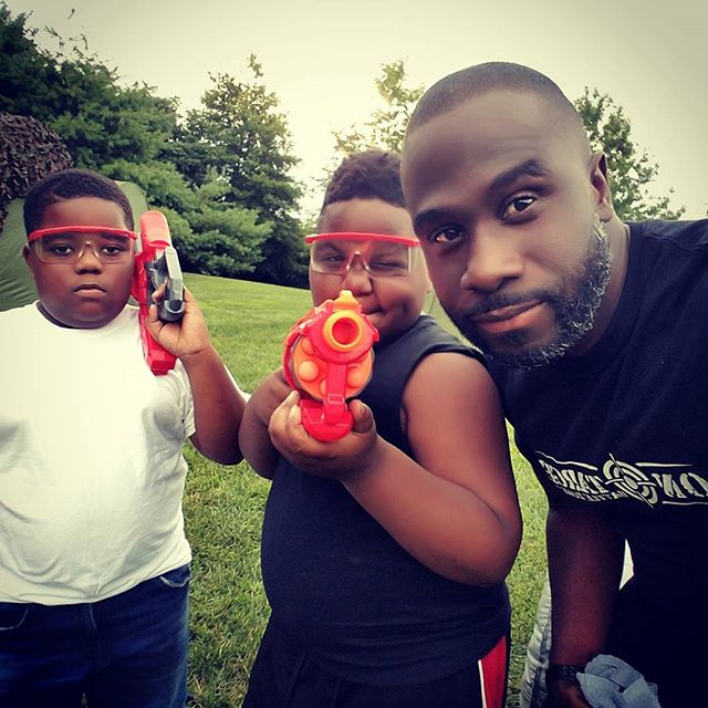 Antonio is On Target and ready for Battle! OTB Nerf Wars #kids #smile #outside #amazing #baltimore #