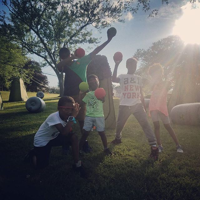 OTB Dodge Wars Team Red vs Blue  #kids #smile #outside #amazing #baltimore #tbt #photooftheday #mary