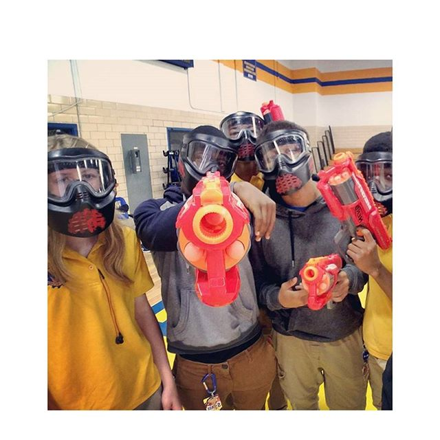 Nerf Wars at On Target BattleZone _#kids #smile #outside #amazing #baltimore #tbt #photooftheday #ma