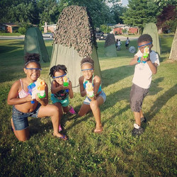 Team Blue is ready for Battle! OTB Water Wars  #kids #smile #outside #amazing #baltimore #tbt #photo