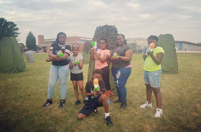 Team Red is On Target and ready for Water Wars! #kids #smile #outside #amazing #baltimore #tbt #phot