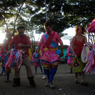 """""""Terno de Congo de Sainha Irmãos Paiva"""" (Manifestação do Congo de Sainha, sediada na cidade de Santo Antônio da Alegria)."""
