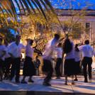 """Caiçaras de Acaraú e Grupo de Dança Vida Feliz"""" (tocadores e dançarinos de fandango de Cananéia)"""