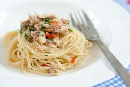 Hand-picked Crab Meat + Angel's Hair Pasta