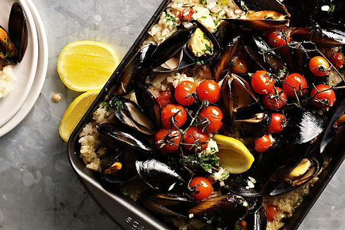 Sautéd Fresh Mussels with Chardonnay