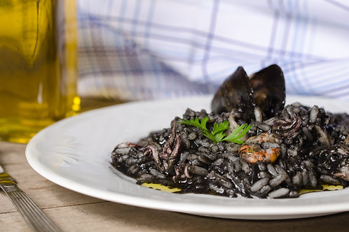 Squid Ink Seafood Risotto