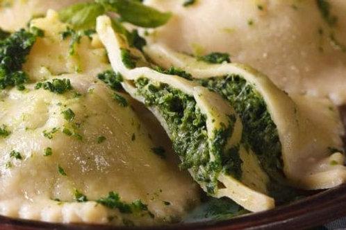 Spinach Ravioli - at home