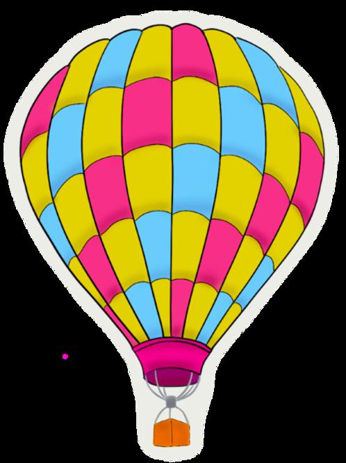 Pan Pride Balloon Vinyl Sticker