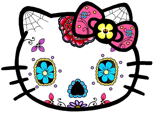 Hello Kitty Sugar Skull Sticker