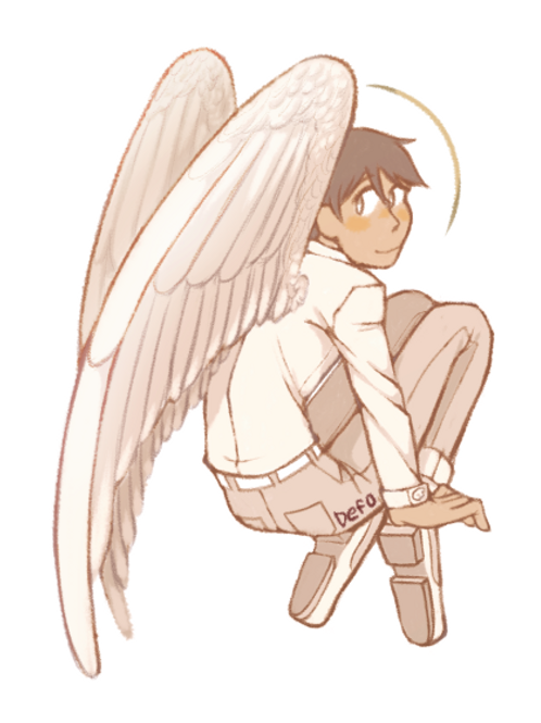 Original Character Art Print - Angel Boy