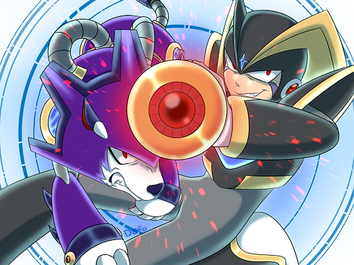 Fan Art DIGITAL DOWNLOAD Mega Man - Bass & Treble