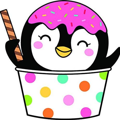 Penguin Ice cream Vinyl Sticker