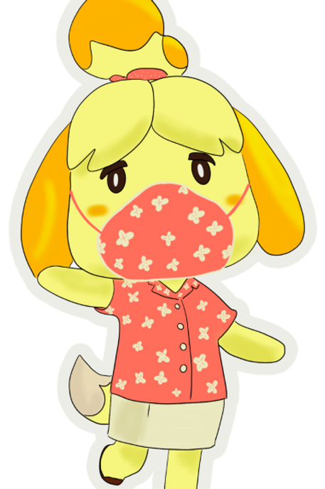 Masked Isabelle-Animal Crossing