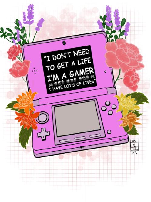 "Original Art Print - ""Gamer Life"" (Artist-RavenHawk)"