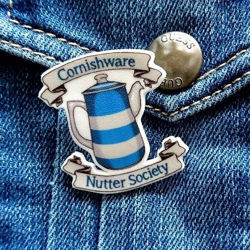 Cornishware nutter society pin brooch