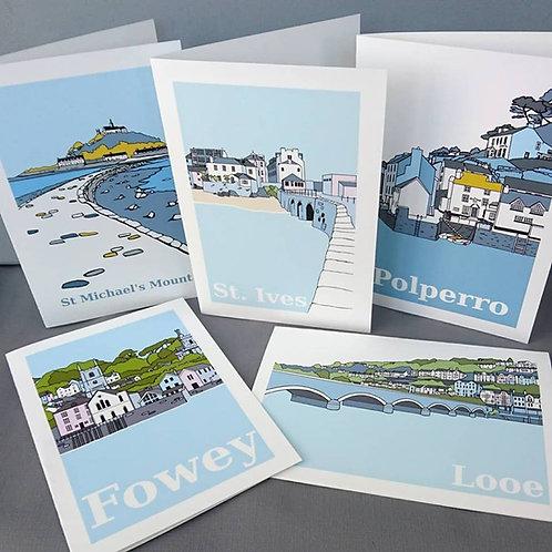 Polperro Harbour A5 Card