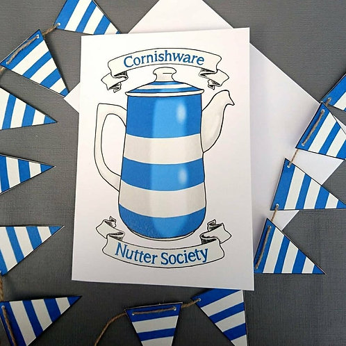 Cornishware Nutter Society A5 Card