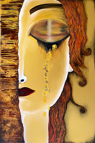Golden Girl inspired by Gustav Klimt