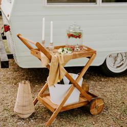 Wooden Beverage Cart