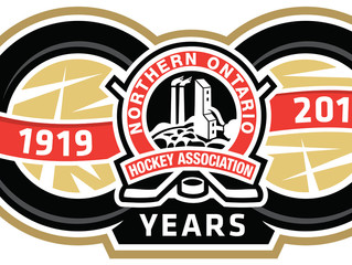 Northern Ontario Hockey Association Unveils 100th Anniversary Logo