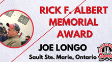 Rick F. Albert Memorial Award - Joe Longo, Sault Ste. Marie