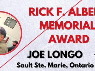 Rick F. Albert Memorial Award - Joe Longo, Sault Ste. Marie